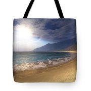 Blue Seas And Radient Sun Shine In This Tote Bag