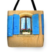 Blue Shutters In Provence Tote Bag