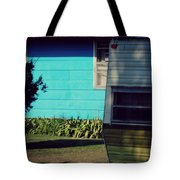 Blue Siding And Camper Tote Bag