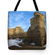 Blue Skies At Monument Rocks Tote Bag