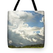 Blue Sky And Building Storm Clouds Fiane Art Print Tote Bag