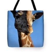 Blue Sky Giraffe Tote Bag
