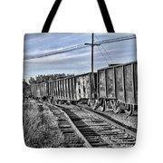 Blue Sky Train2 Tote Bag