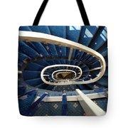 Blue Spiral Stairsway Tote Bag