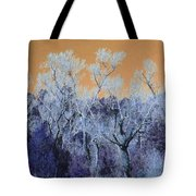Blue Trees New Mexico Tote Bag