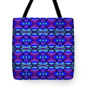 Blue Turquoise And Purple Tote Bag