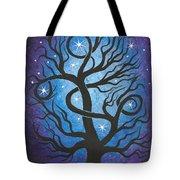 Blue Twisted Tree Tote Bag