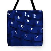 Blue Warped Keyboard Tote Bag