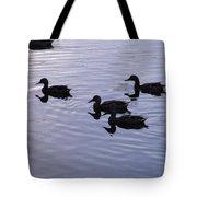 Blue Water Ducks Tote Bag