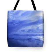 Blue Waterscape Tote Bag