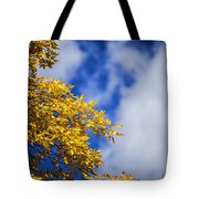 Blue White And Gold Tote Bag