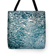 Blue White Water Bubbles In A Pool Tote Bag