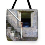Blue Window Bunker Tote Bag