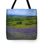 Bluebell Flowers On A Landscape, County Tote Bag