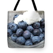 Blueberries And Cottage Cheese Tote Bag
