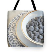 Blueberries In Blue And White China Bowl Tote Bag