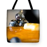 Blueberry Butter Pancake With Honey Maple Sirup Flowing Down Tote Bag