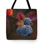 Blueberry Dewdrops Tote Bag