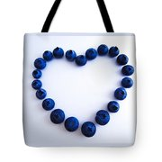 Blueberry Heart Tote Bag by Julia Wilcox