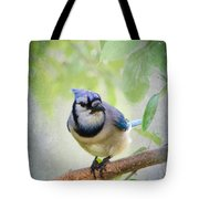 Bluejay In A Tree Tote Bag