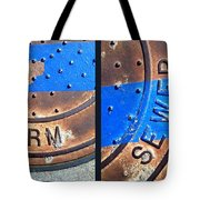 Bluer Sewer Diptych Tote Bag