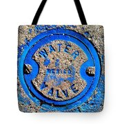 Bluer Sewer Triptych Tote Bag