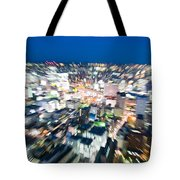 Blurred View Towards An Object Tote Bag