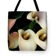 Blushing Calla Lilies Tote Bag