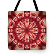 Blushing Flower Kaleid Tote Bag