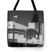 Bmt End Of The Line In Black And White Tote Bag
