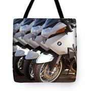 Bmw Police Motorcycles Tote Bag