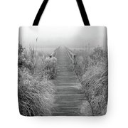Boardwalk In Quogue Wildlife Preserve Tote Bag
