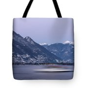 Boat And Alps Tote Bag