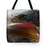 Boat And Sunlight Tote Bag
