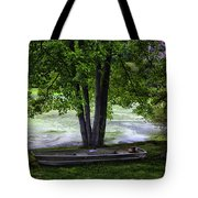 Boat By The Pond 2 Tote Bag