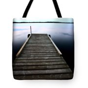 Boat Dock At Smallfish Lake In Scenic Saskatchewan Tote Bag