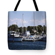 Boat Harbor In Dunkirk New York Tote Bag