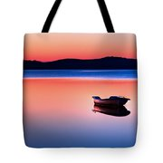 Boat In Sunset II Tote Bag