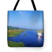 Boat In The River, Shannon-erne Tote Bag