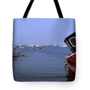 Boat Moored In The Sea, Strangford Tote Bag