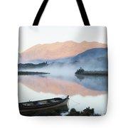 Boat On A Tranquil Lake Killarney Tote Bag