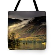 Boat On Lake Derwent, Cumbria, England Tote Bag by John Short