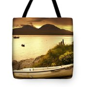 Boat On The Shore At Sunset, Island Of Tote Bag