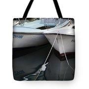Boat Reflections In Hvar Tote Bag