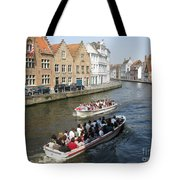 Boat Tours In Brugge Belgium Tote Bag