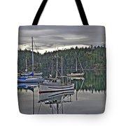 Boating Reflections Tote Bag