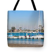 Boats And Blue Water Tote Bag