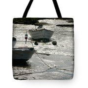 boats at low tide in Cape Cod Tote Bag