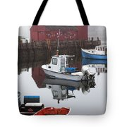 Boats At Rockport Harbor Tote Bag