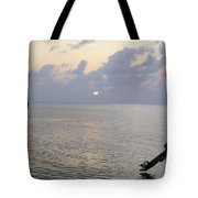 Boats Coming To A Rest For The Day At Sunset In The Lakshadweep Islands Tote Bag